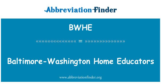 BWHE: Baltimore-Washington Home Educators