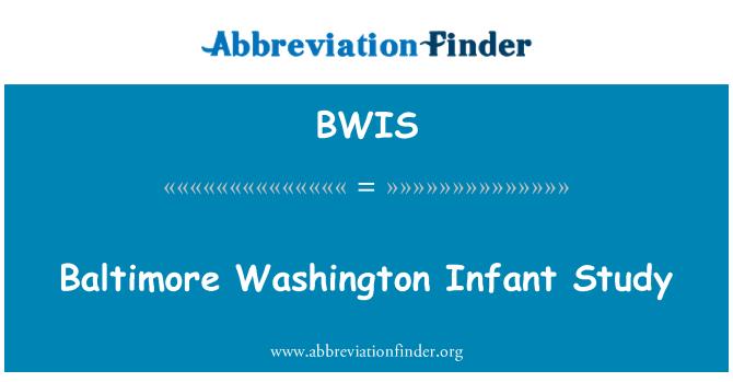 BWIS: Baltimore Washington bebek çalışma