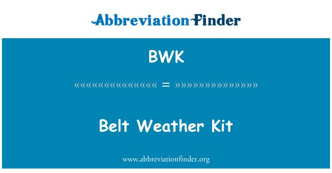 BWK: Belt Weather Kit
