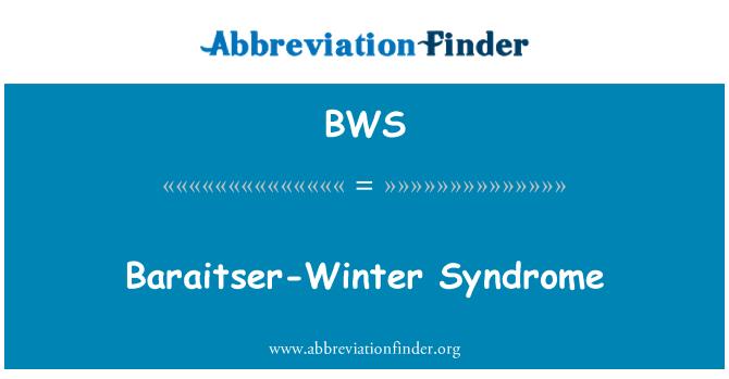 BWS: Baraitser-Winter Syndrome
