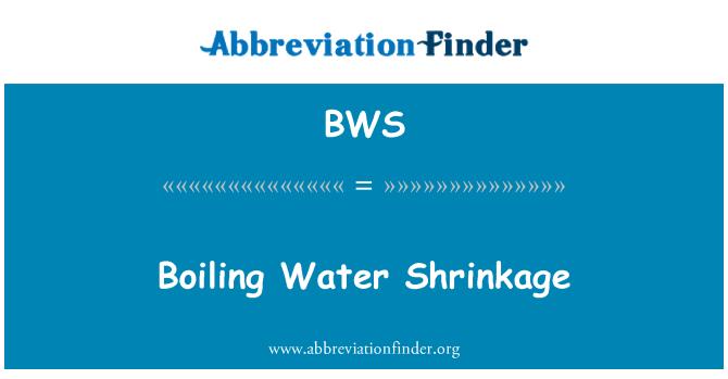 BWS: Boiling Water Shrinkage