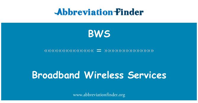 BWS: Broadband Wireless Services