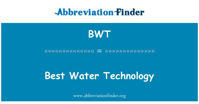 BWT: Best Water Technology