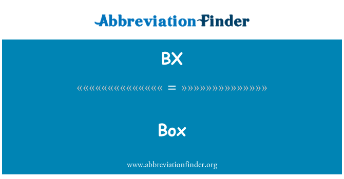 BX: Caja