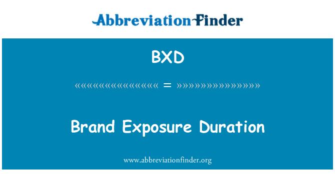 BXD: Brand Exposure Duration