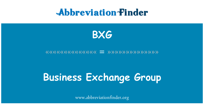 BXG: Business Exchange Group