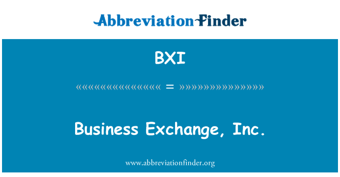 BXI: Business Exchange, Inc.