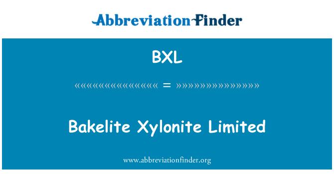 BXL: Bakelite Xylonite Limited