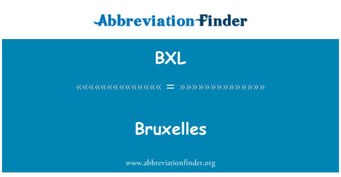 BXL: Bruxelles