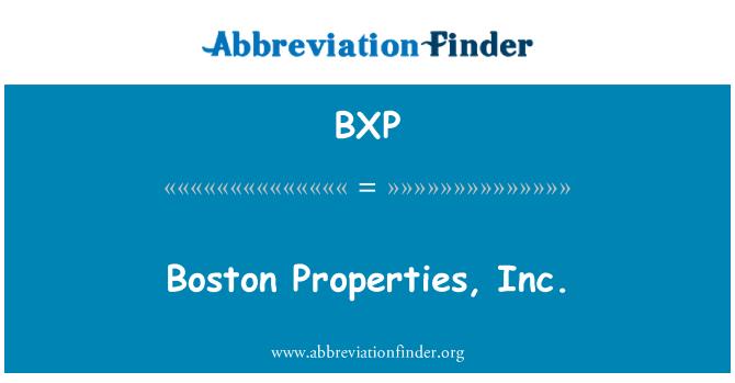 BXP: Boston Properties, Inc.