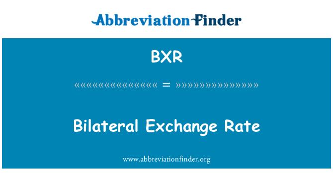 BXR: Tipo de cambio bilateral