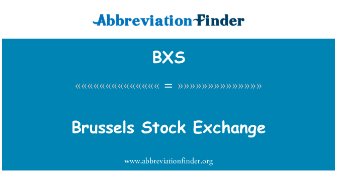 BXS: Bolsa de comercio de Bruselas