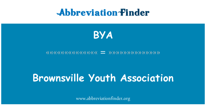 BYA: Brownsville Youth Association