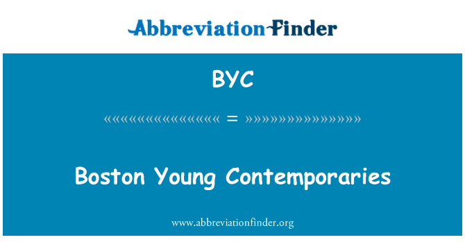 BYC: Boston Young Contemporaries