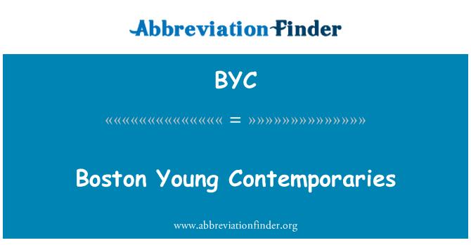 BYC: Boston jóvenes contemporáneos