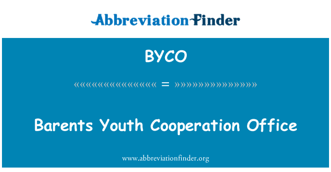 BYCO: Barents Youth Cooperation Office