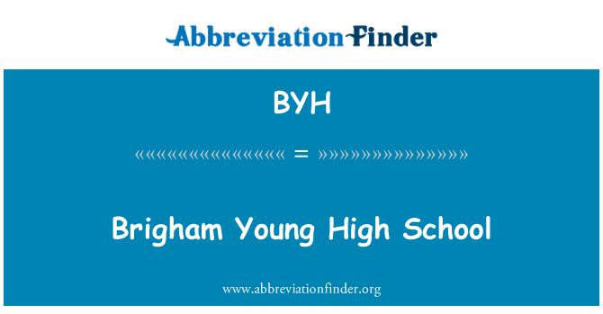 BYH: Brigham Young High School