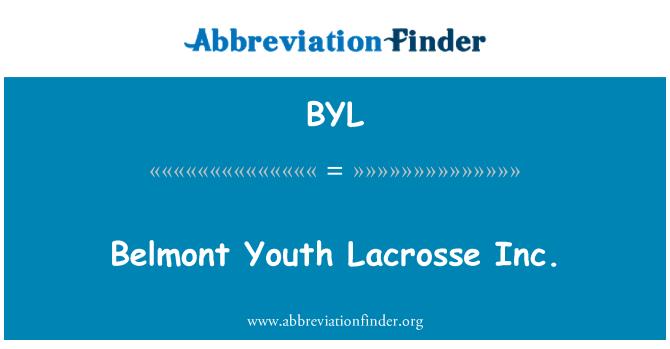 BYL: Belmont juventud Lacrosse Inc.