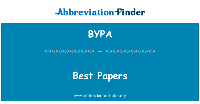 BYPA: Best Papers