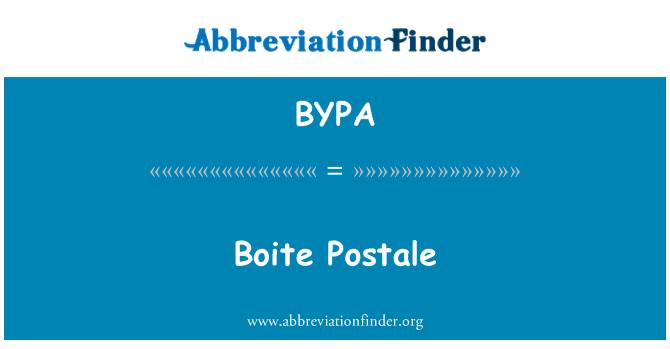 BYPA: Boite Postale