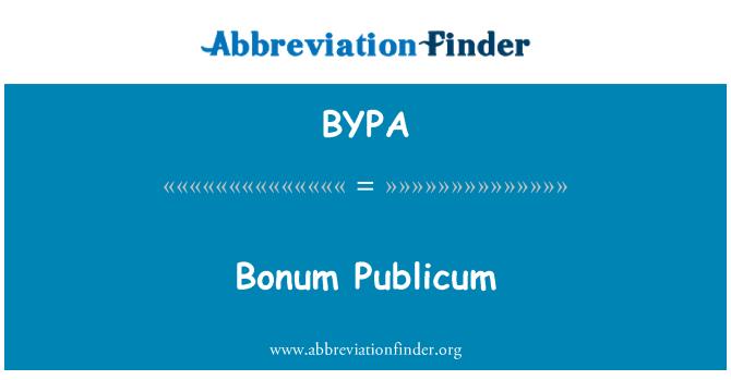 BYPA: 最高的善 Publicum