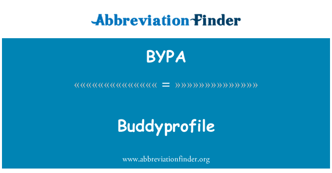 BYPA: Buddyprofile