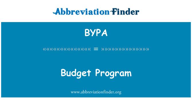 BYPA: Bütçe Program