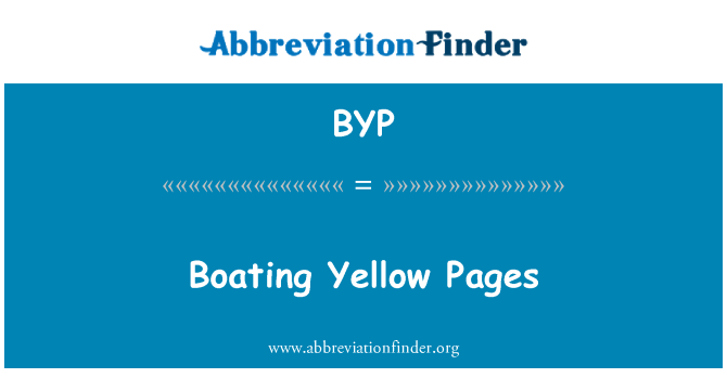 BYP: Boating Yellow Pages