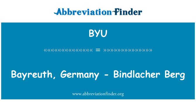 BYU: Bayreuth, Alemania - Bindlacher Berg