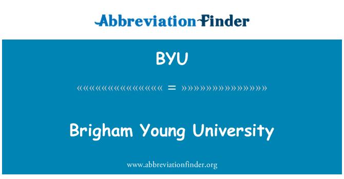 BYU: Brigham Young University