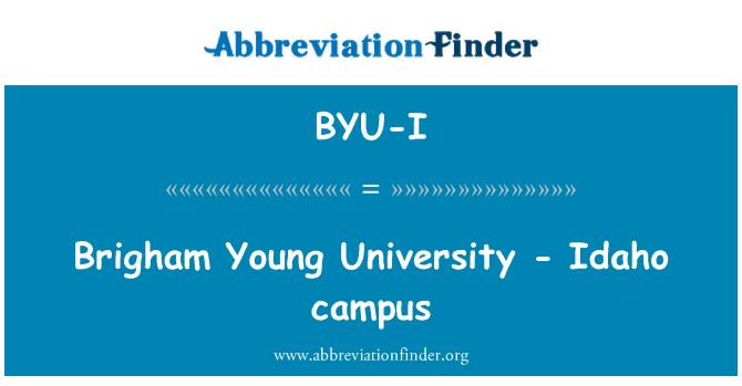 BYU-I: Brigham Young University - Idaho campus