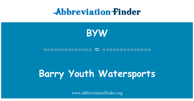 BYW: Barry Youth Watersports