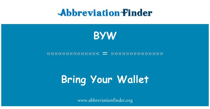 BYW: Trae tu cartera