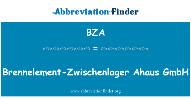 BZA: Brennelement-Zwischenlager Ahaus GmbH