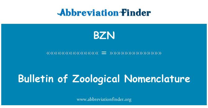 BZN: Boletín de nomenclatura zoológica