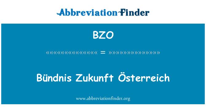 BZO: Bündnis Zukunft Österreich