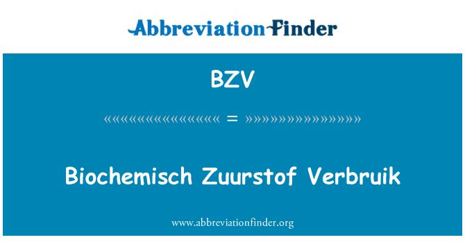 BZV: Biochemisch Zuurstof Verbruik