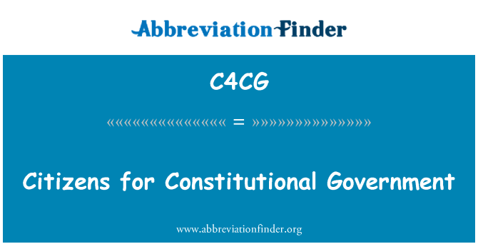 C4CG: Citizens for Constitutional Government