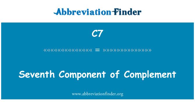 C7: Kompleman yedinci bileşen