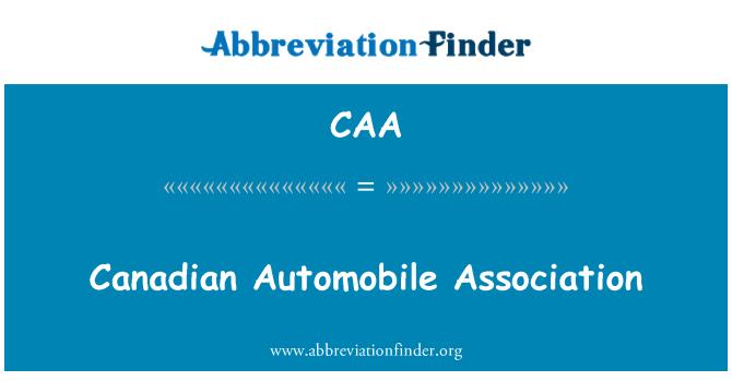 CAA: Canadian Automobile Association
