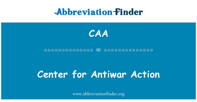 CAA: Center for Antiwar Action