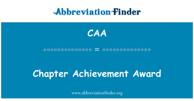 CAA: Capítulo Achievement Award