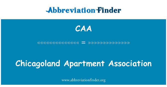 CAA: Chicagoland Apartment Association