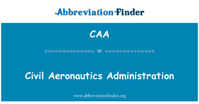 CAA: Administración de aeronáutica civil