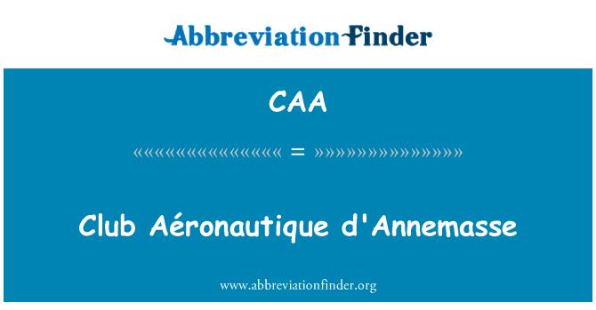 CAA: Club Aéronautique d'Annemasse