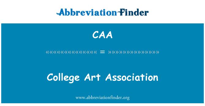 CAA: College Art Association