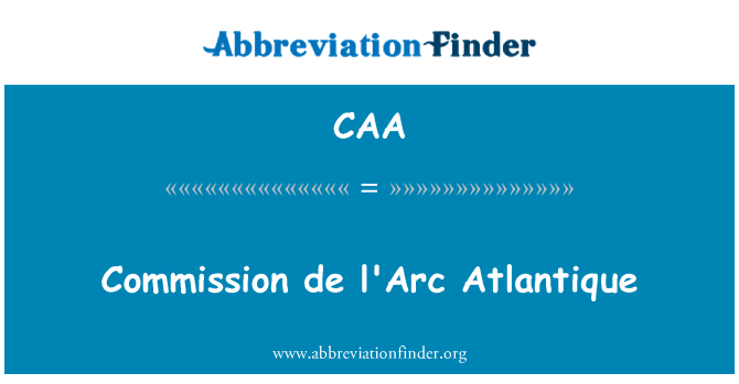 CAA: Commission de l'Arc Atlantique