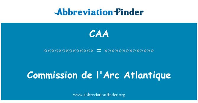 CAA: Comisión de l ' Arc Atlantique