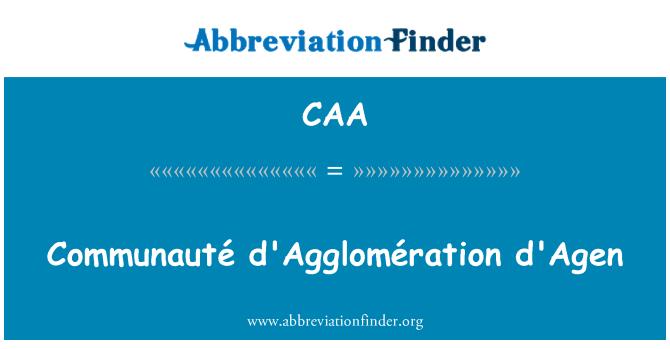 CAA: Communauté d'Agglomération d'Agen