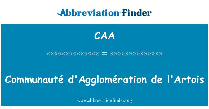 CAA: Communauté d'Agglomération de l'Artois